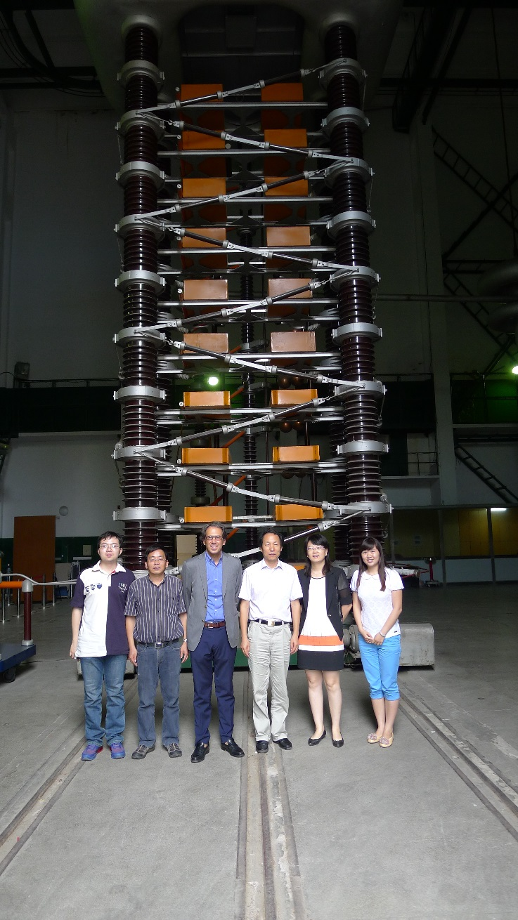 Visit of the High Voltage Laboratory of the Shanghai Jiaotong University (July 2014)
