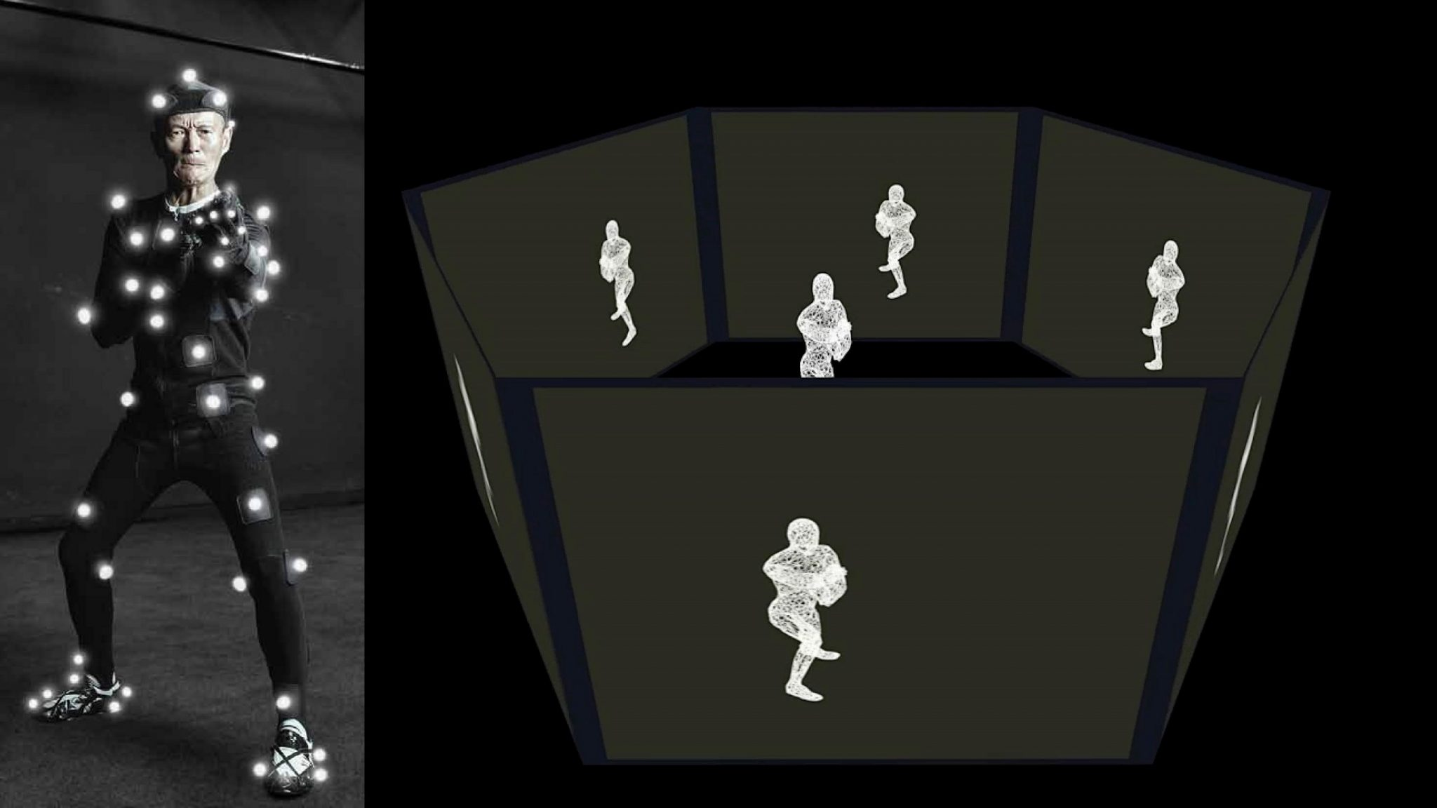 Motion capture and display of kung fu