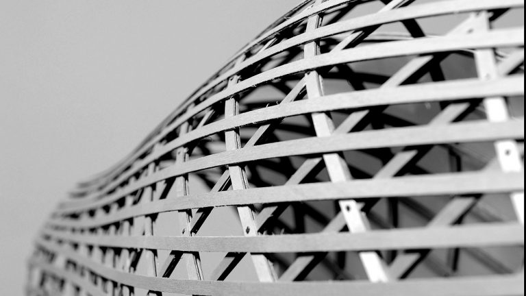 gridshell prototype timber epfl