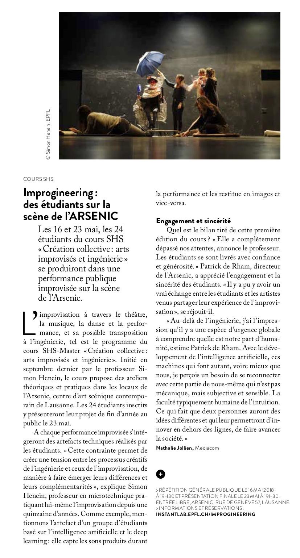 Article paru dans le magazine de l'EPFL