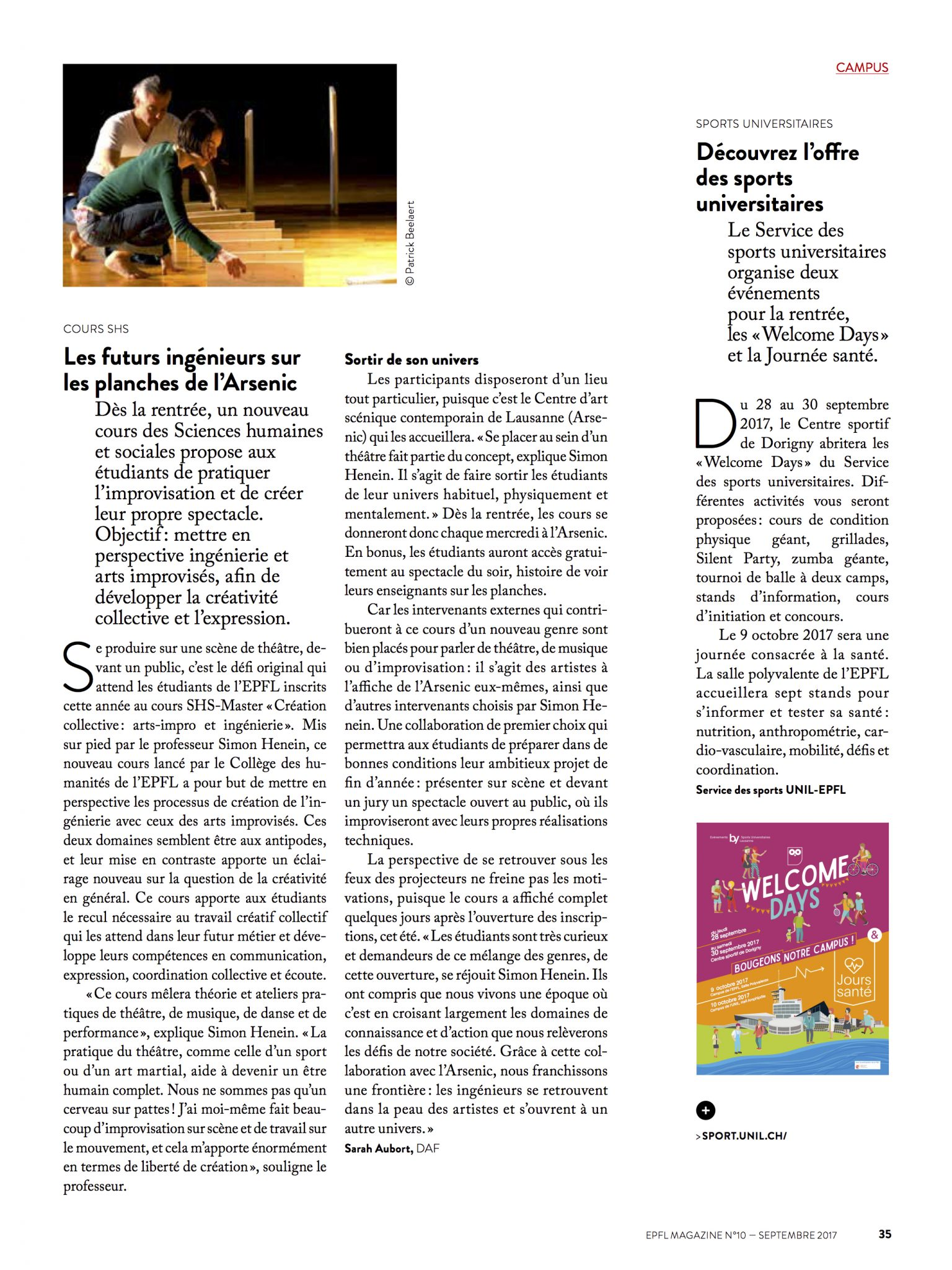 article epfl magazine