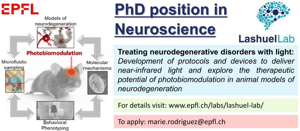 Open Positions Laboratory Of Molecular Neurobiology And