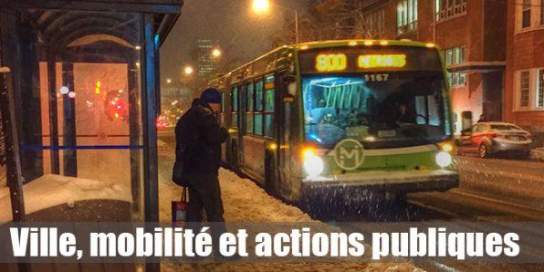 Ville, mobilité et actions publiques