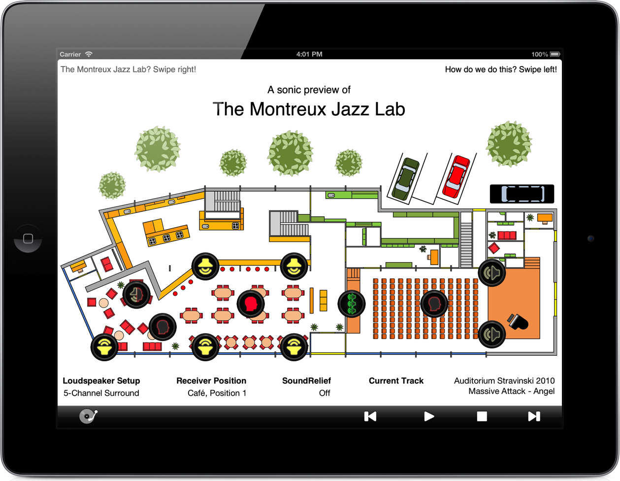 iPad Application for Sonic Preview of the Montreux Jazz Lab