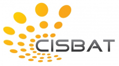 cisbat logo jaune et orange sur noir