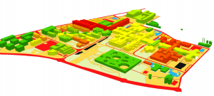 Virtual campus, energy demand and thermal comfort, visualized through the GIS model