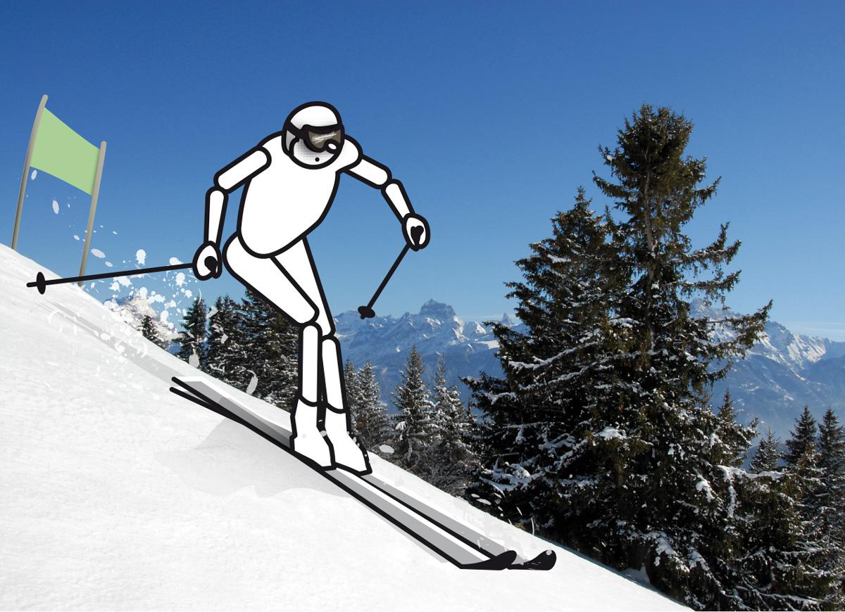 LMAM figurine skiing
