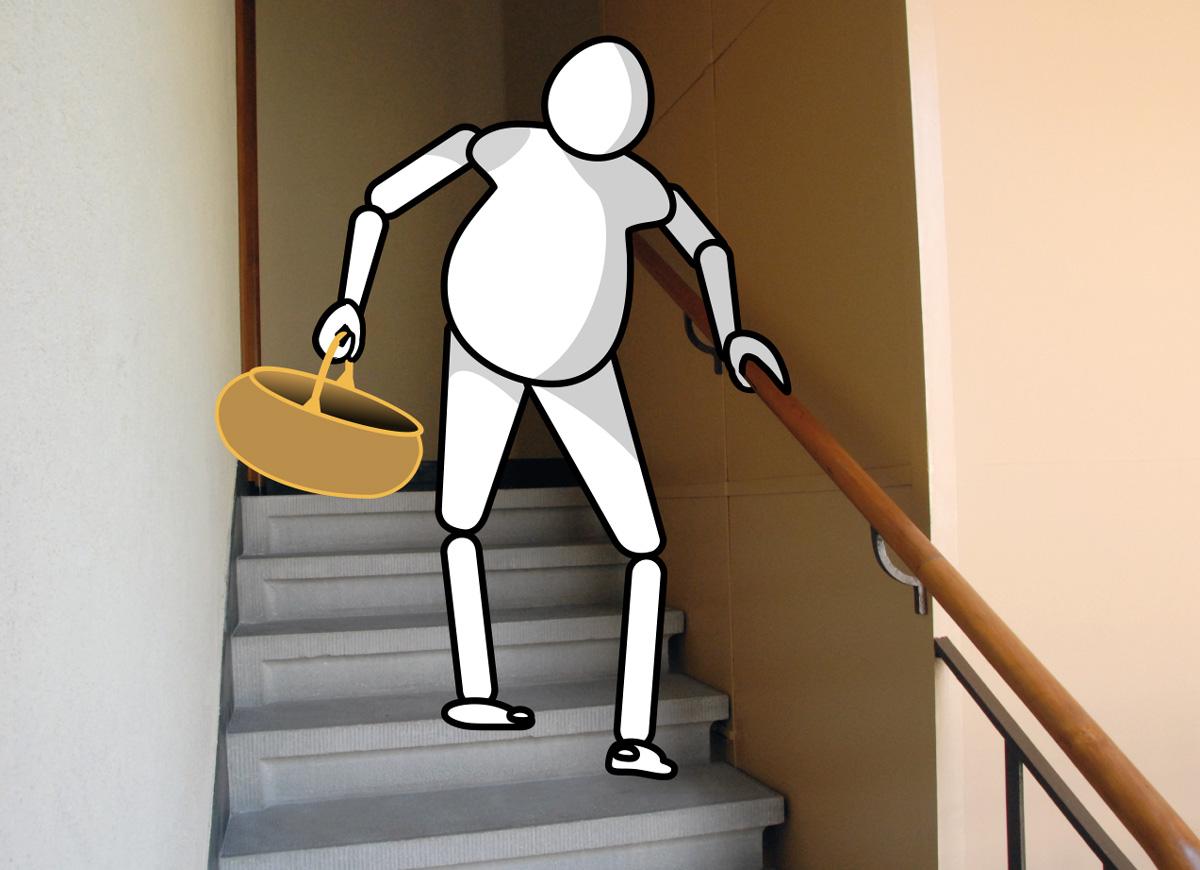 LMAM figurine on a staircase