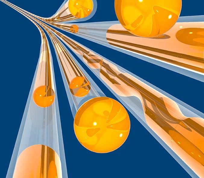Liquid flow in nanotubes