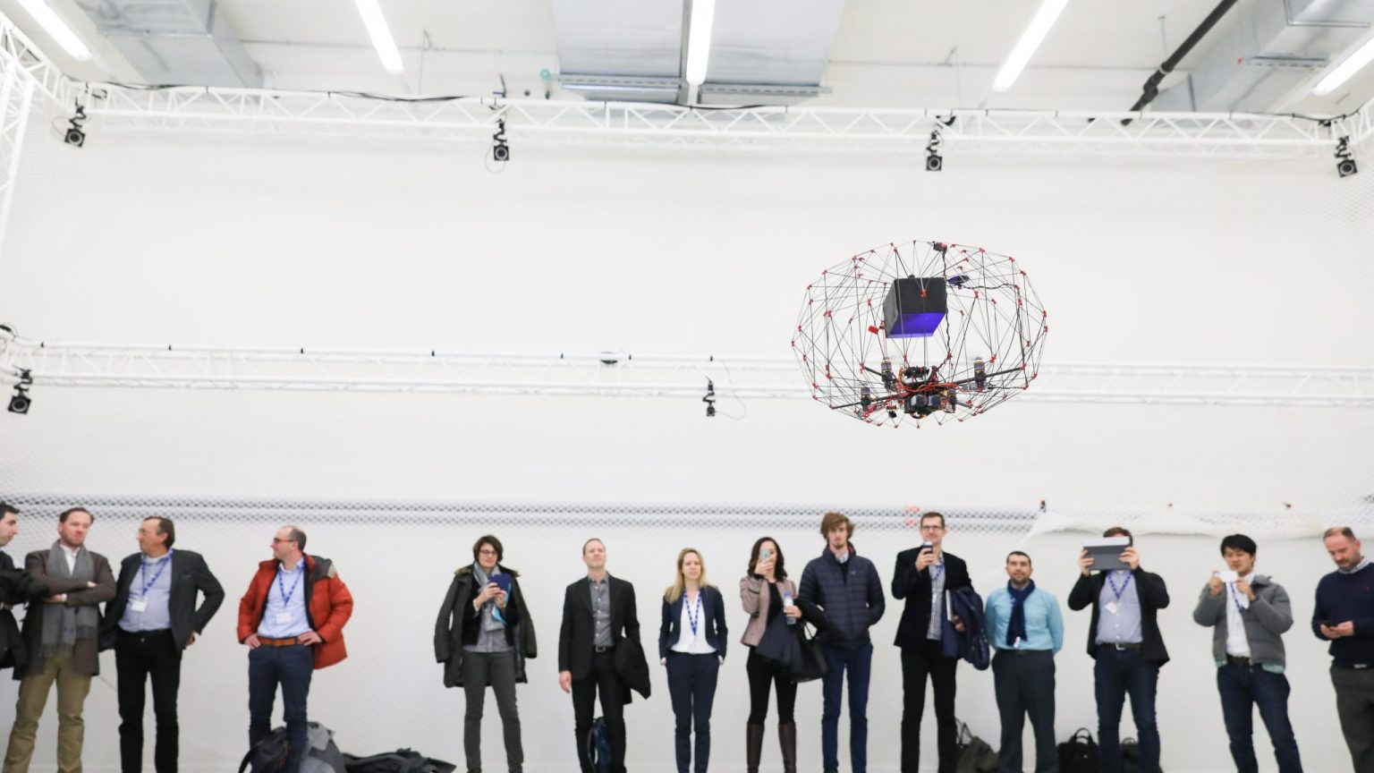 Group of people with drone