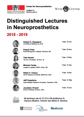Program Dinstinguished Lectures Neuroprosthetics 2018-2019
