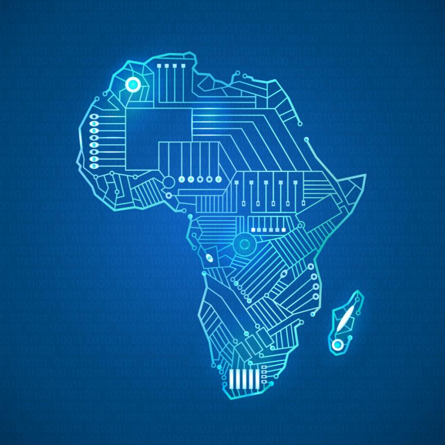 Carte Afrique digital