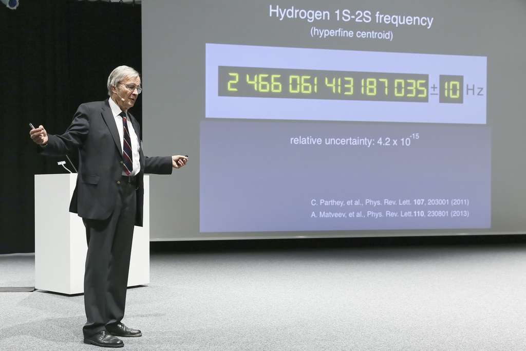 Häansch with the frequency of H 1s 2s transition