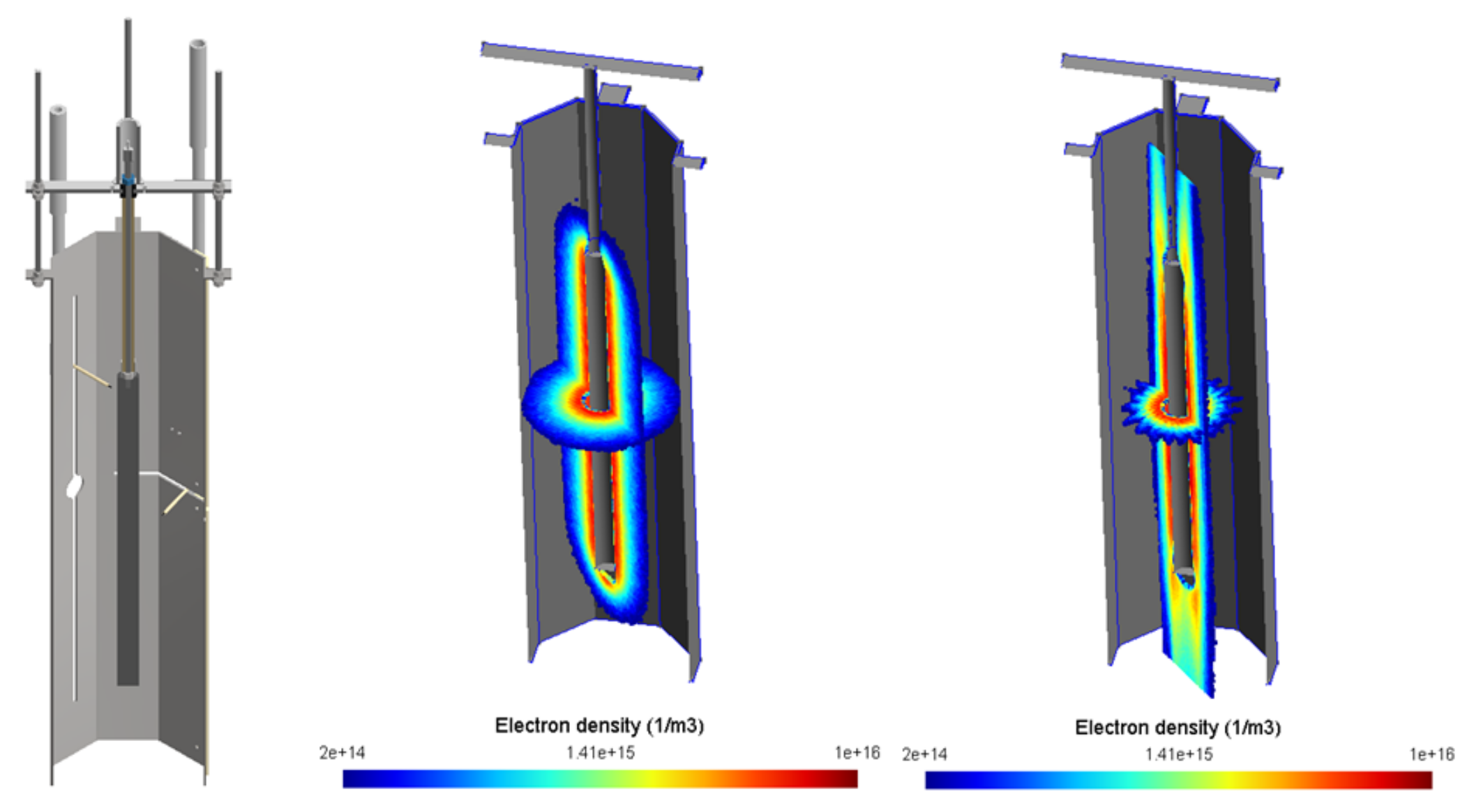 CAD experimental system with simulated electron densities