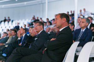 SPC's director Ambrogio Fasoli at the inauguration ceremony © Muriel Gerber EPFL