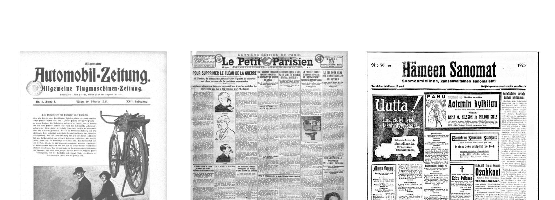 Image of old newspaper journals