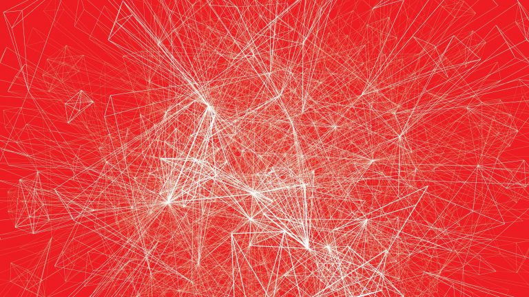 Graphs on a red background