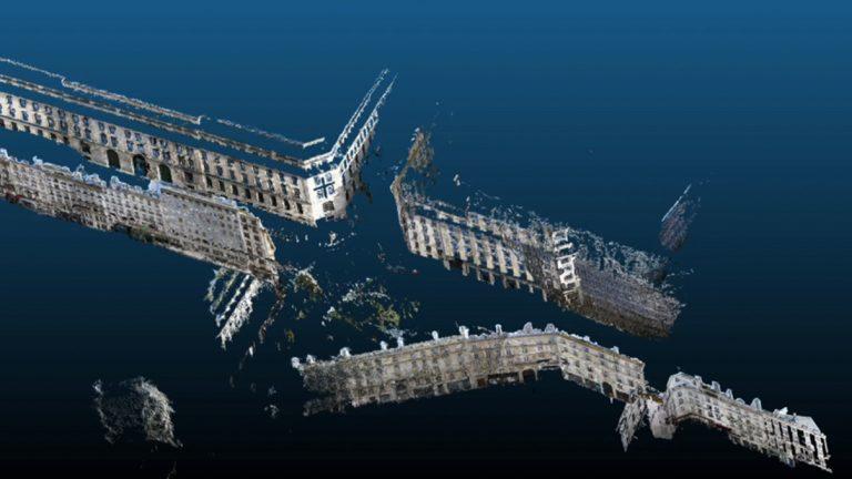 Photogrammetry image of buildings in Paris