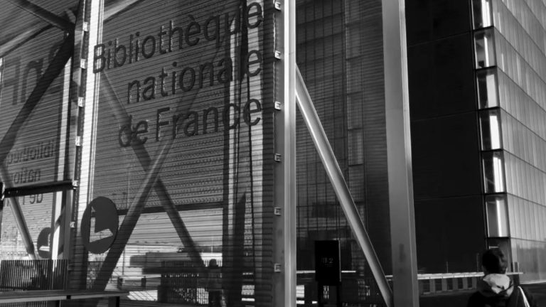 Image of the entrance of Bibliotheque Nationale de France