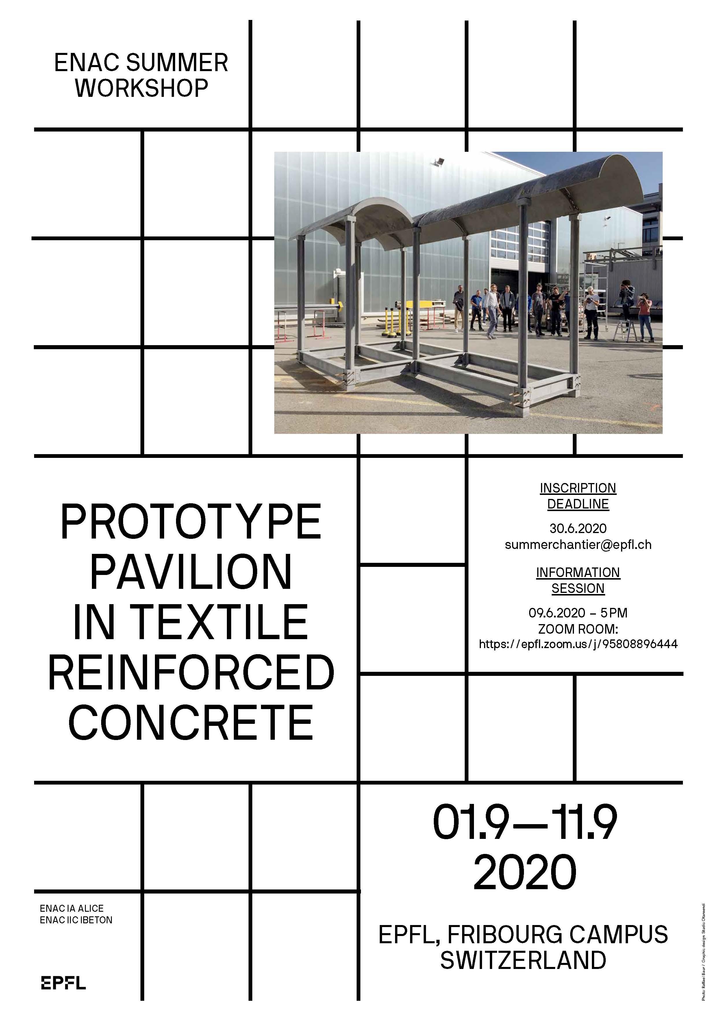 A Prototype Pavillon In Textile Reinforced Concrete Formation Enac Epfl