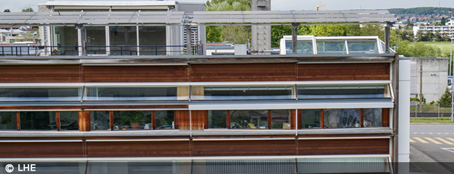 Exterior of LESO-PB building at EPFL