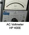 AC Voltmeter HP 400E
