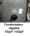 Condensateur réglable 100pF-1100pF