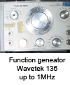 Function generator Wavetek 136 up to 1MHz