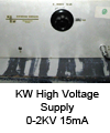 High voltage supply 0-2KV_15mA