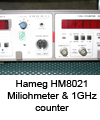 Milliohmeter-1GHz counter Hameg HM8021