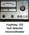 Null detector microvoltmeter 155 Keithley