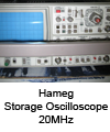 Oscilloscope Hameg 20MHz storage