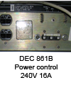 Power control DEC 861B 240V_16A