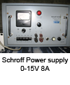 Power supply Schroff 0-15V_8Amax