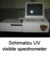 Schimadzu UV visible spectrometer