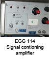 Signal conditioning amplifier EGG 114