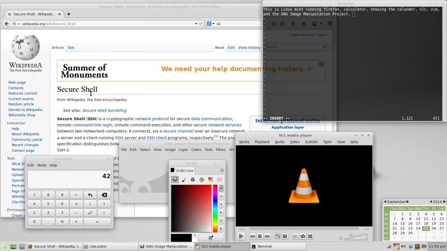 Exemples de logiciels libres Auteur: Benjamintf1 Source: Wikimedia Commons Licence: CC BY-SA 4.0