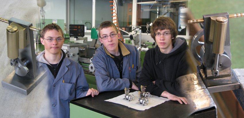 Stagiaires du 18 au 22 février 2008 Damien, Robin et Nicolas