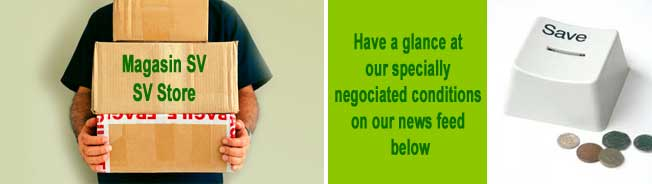 Save your money - Use our specially negociated conditions