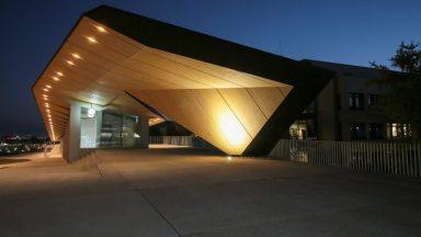 Batiment EPFL ArtLab de nuit