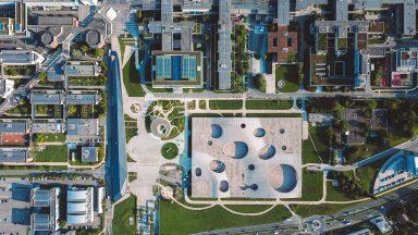 Vue aérienne du campus lausannois